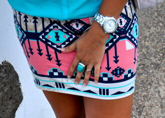 skirt aztec short skirt print