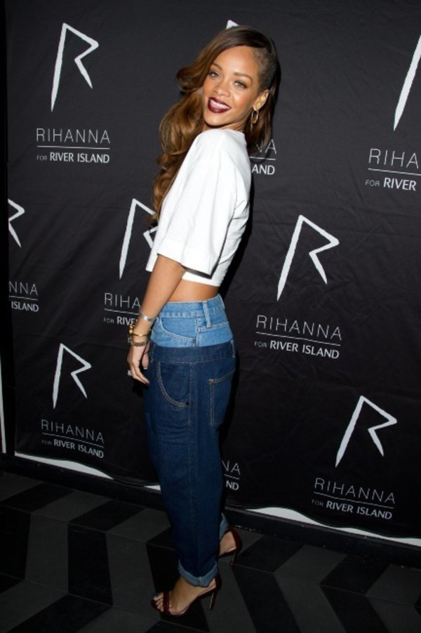 jeans rihanna shoes shirt