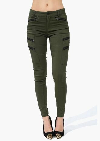 jeans green zip camo pants green camo olive green