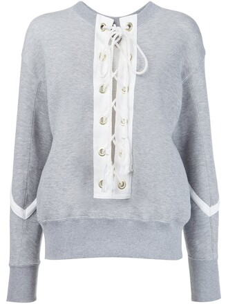 sweatshirt lace grey sweater