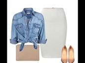 skirt,white spandex/poly comfy