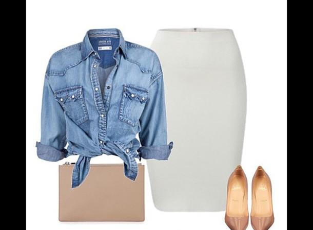 skirt white spandex/poly comfy