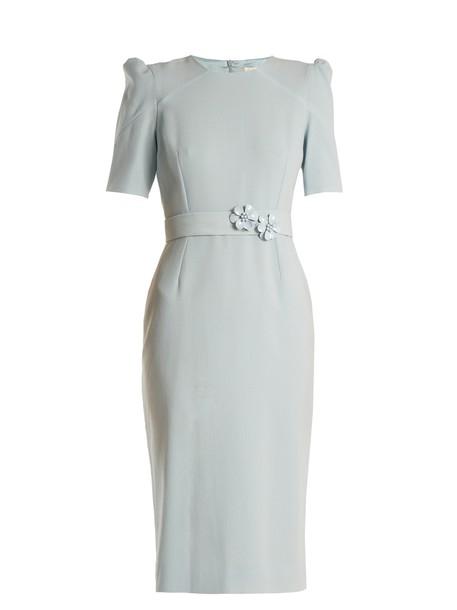 Goat dress embellished wool light blue light blue