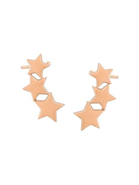 cuff rose gold rose women triple ear cuff gold grey metallic jewels