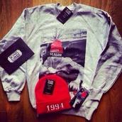 sweater,red,1994,grey sweater,hat,celebrity,justin bieber,belieber,human