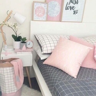 sweater bedding pink grey geometric sheets pillow cute home accessory aesthetic trendy