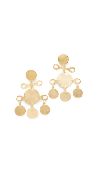 fancy earrings gold satin jewels
