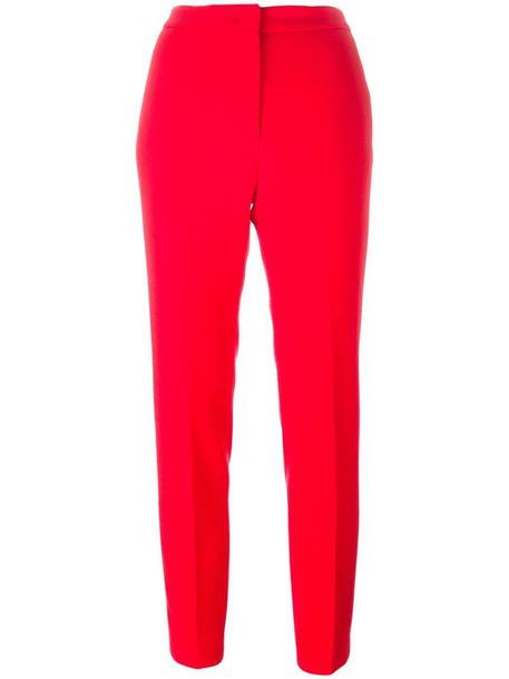 MSGM women wool red pants