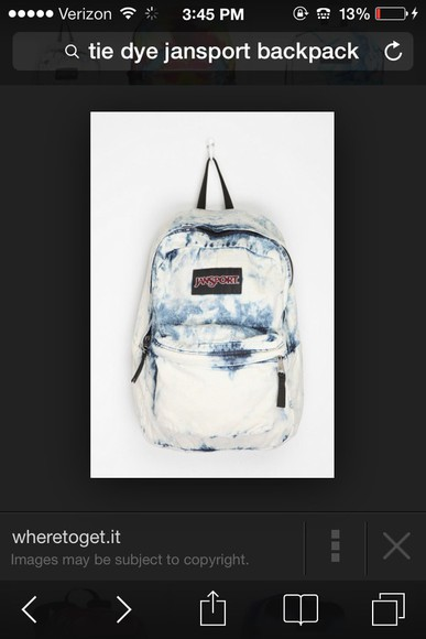 distressed bag acid wash jansport