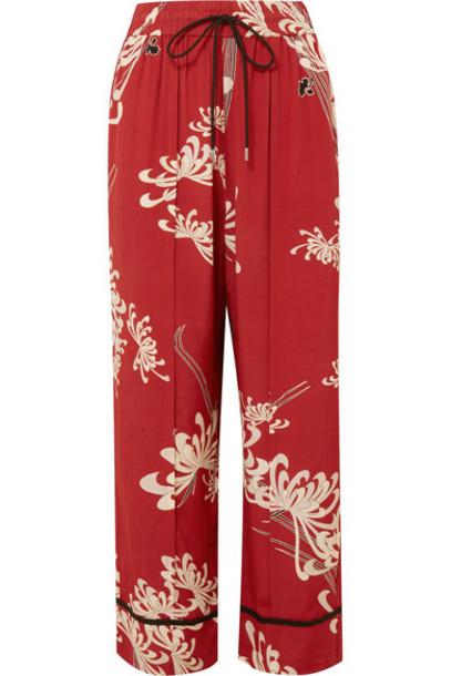 McQ Alexander McQueen pants track pants red