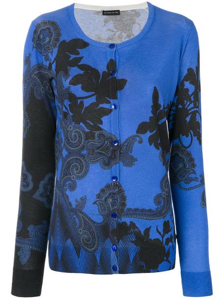 ETRO cardigan cardigan women blue silk sweater