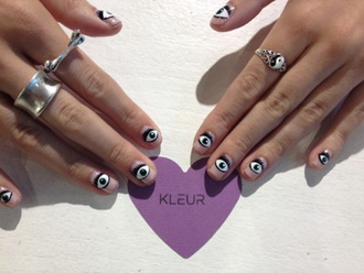 yin yang eye silver ring bones jewels