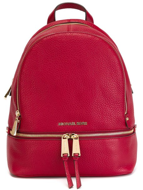 MICHAEL Michael Kors women backpack leather red bag