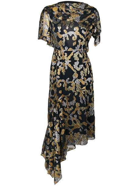 Peter Pilotto dress women black silk