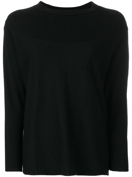 Labo Art top knitted top women spandex black wool
