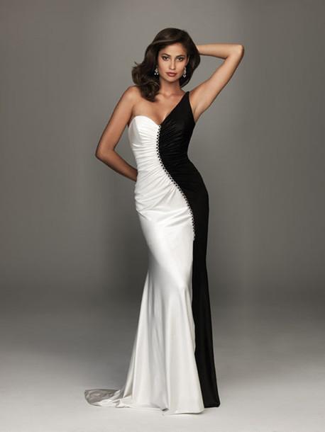 dress balck and white dress