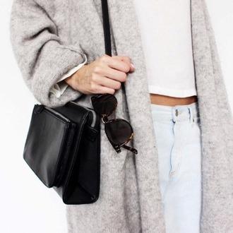 coat long gris