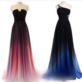dress prom ombre beautiful long prom dress gown blue purple