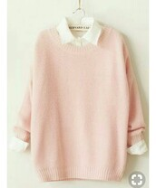 top,candy pink,sweater,baby pink sweater,pink sweater,kawaii,cute