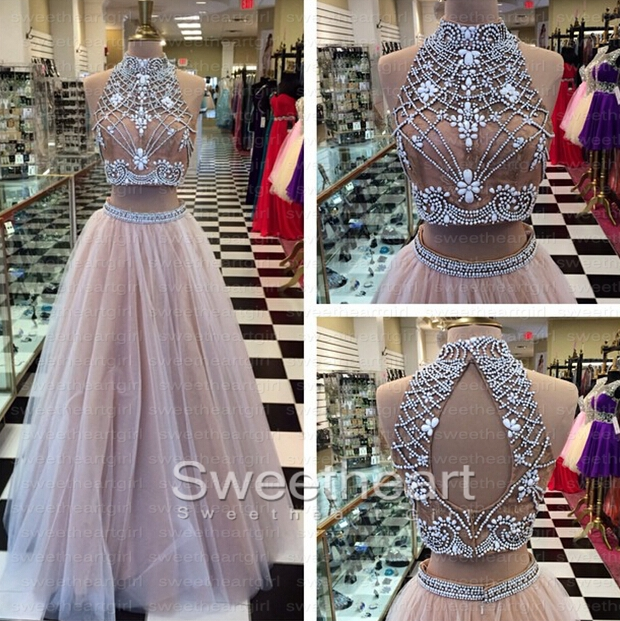 ... Champagne Tulle Long Prom Dress | Online Store Powered by Storenvy
