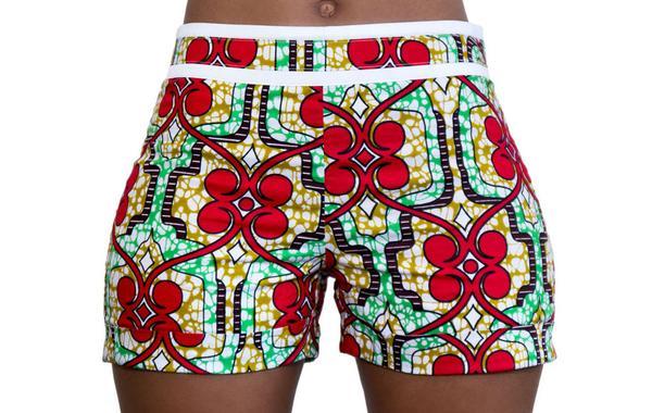 Nuru African Print Shorts | Shop Khesi