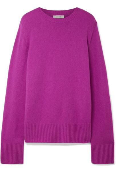 The Row sweater wool magenta