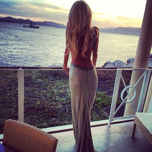 dress backless dress long dress