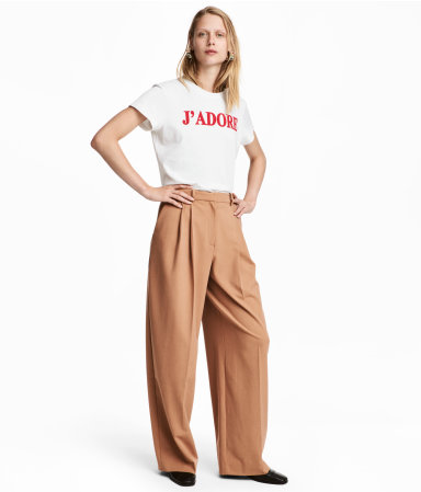 H&M Wide-cut Pants $59.99