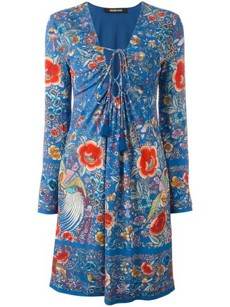 dress women drawstring lace blue