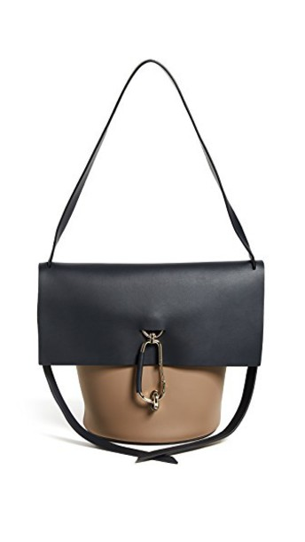 colorblock handbag navy bag