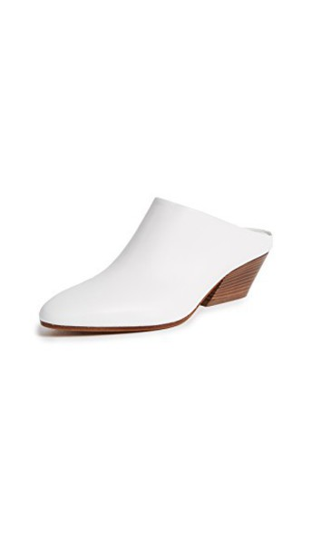 Vince mules white shoes