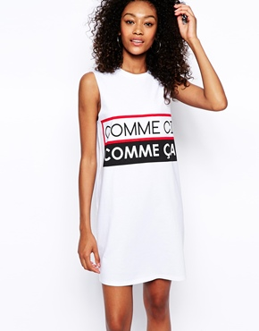 ASOS | ASOS Sleeveless T-Shirt Dress in Comme Ci Comme Ca at ASOS