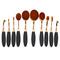 Oval half plating coat 10pcs/set makeup brushes
