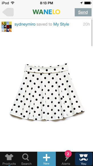 skirt polka dots forever 21 black white skater skirt