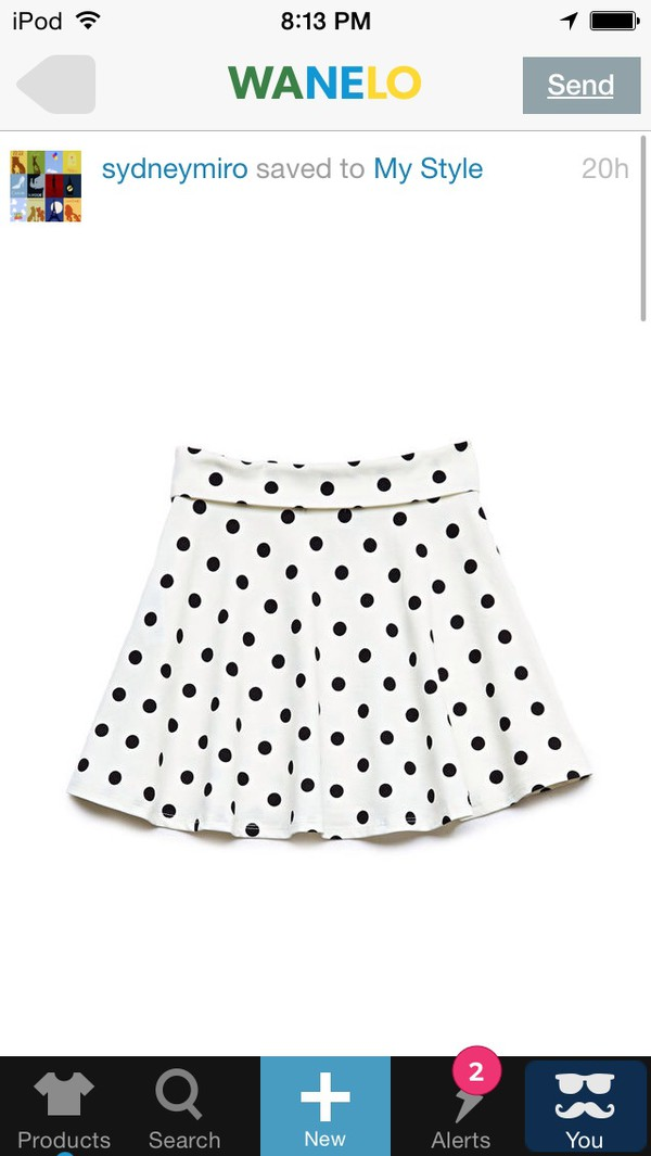 skirt forever 21 polka dots black white skater skirt