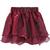 Wine Red Layered Mesh Flare Short Skirt - Sheinside.com