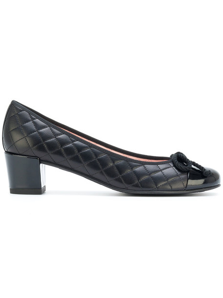 PRETTY BALLERINAS heel women quilted shoes leather black