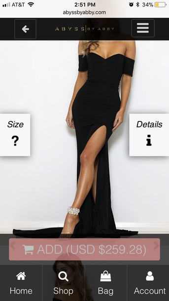 dress black dress long dress
