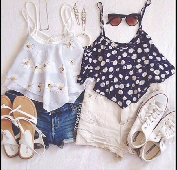 top black crop top crop tops floral tank top white crop tops