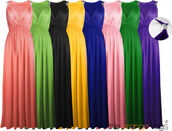 dress,long,stretch,maxi dress,long dress,elegant,coral,green,mint,yellow,black,purple,royal blue,pink,detail,celebrity,blue dress,blue,grecian maxi dress