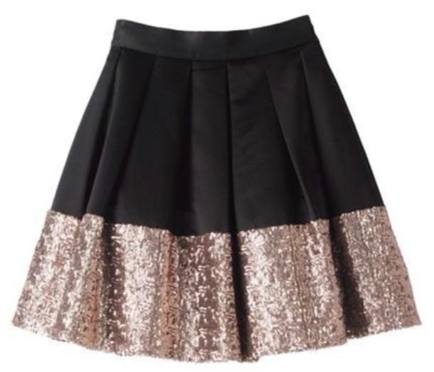 skirt sparkle dressy black gold glitter gold glitter black skirt short skirt