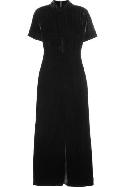 McQ Alexander McQueen dress maxi dress maxi black velvet