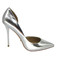 Stylish shoes - metallic silver heels