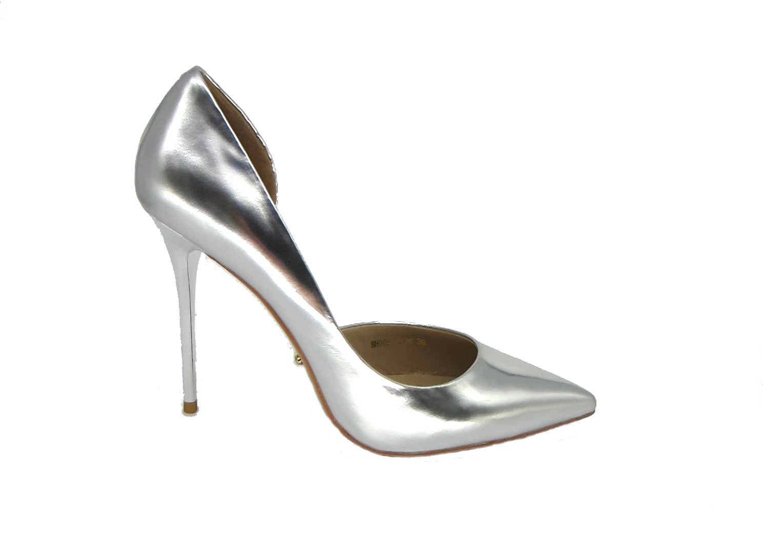 Shoes - Metallic Silver Heels