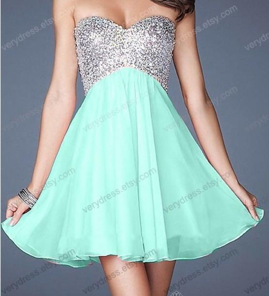 Dress Homecoming Dress Prom Dress Semi Formal Sequin Dress