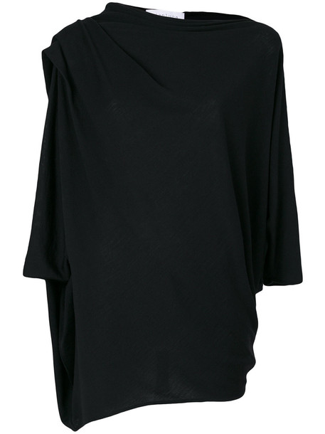 GIANLUCA CAPANNOLO top knitted top women black wool