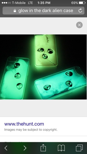phone cover alien phone case glow in the dark