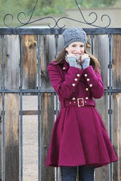 coat,almost trench coat,cranberry,burgundy