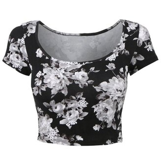 top rose wholesale black and white floral vintage goth girly