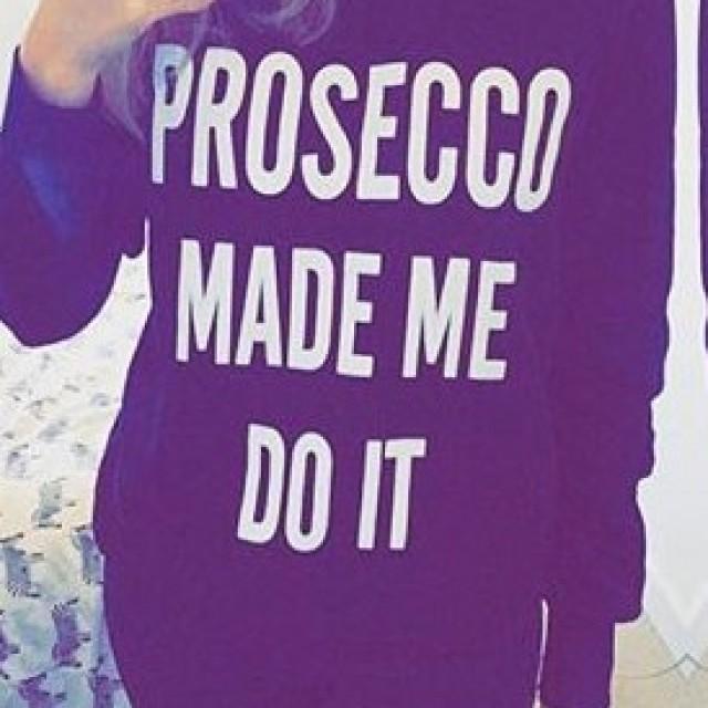 Prosecco Made Me Do It Jumper Black